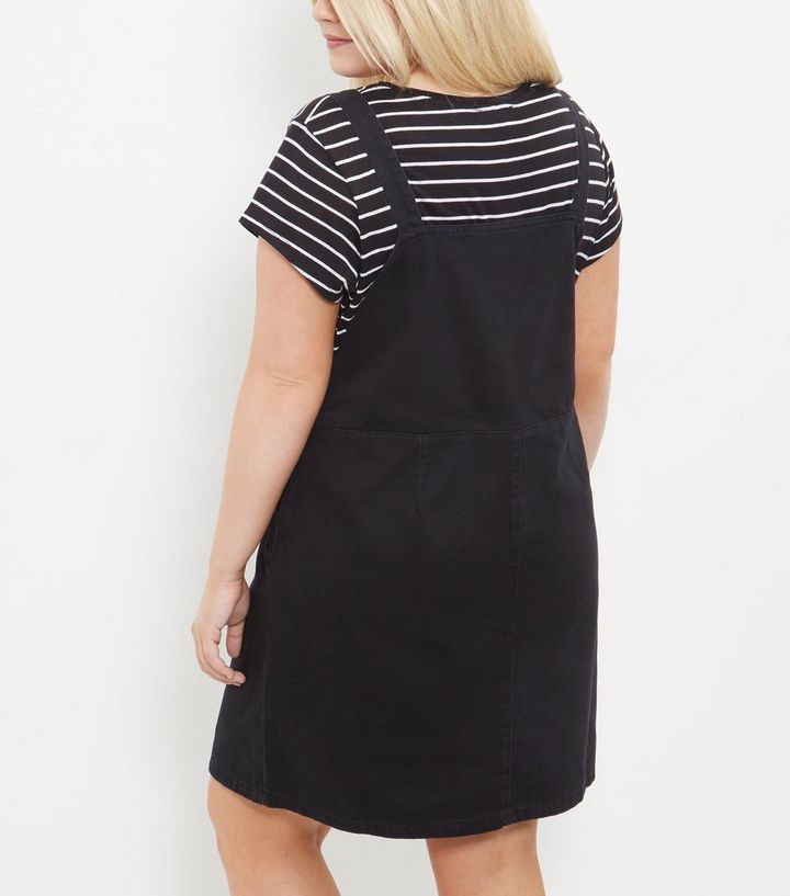 9762a1cf056 ... Black Denim Dungaree Pinafore Dress. ×. ×. ×. Shop the look