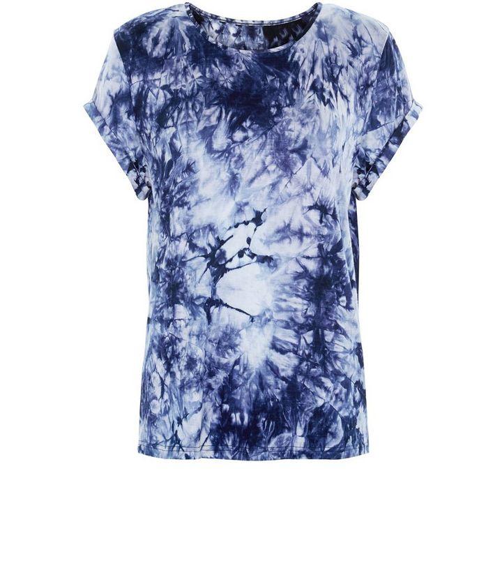 1ddea715 Parisian Blue Tie Dye T-Shirt | New Look