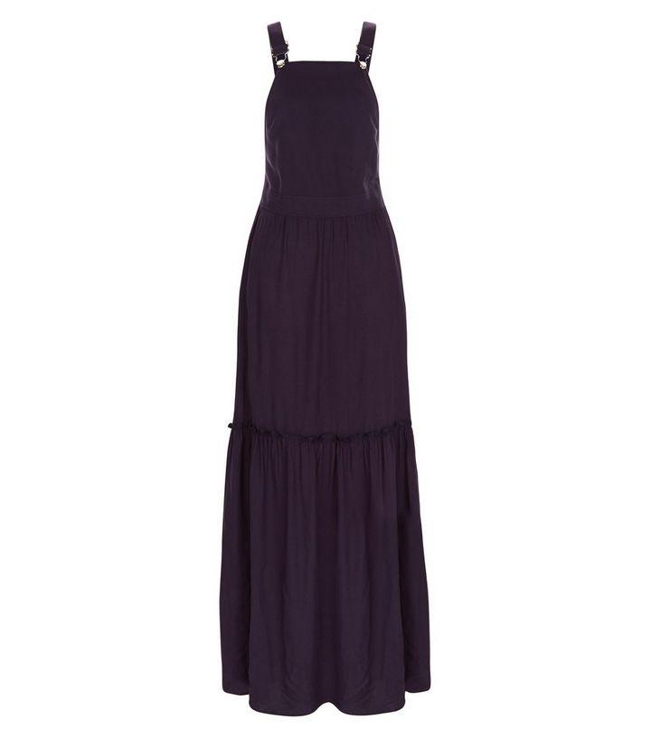 473b54a987a Navy Dungaree Layered Maxi Dress
