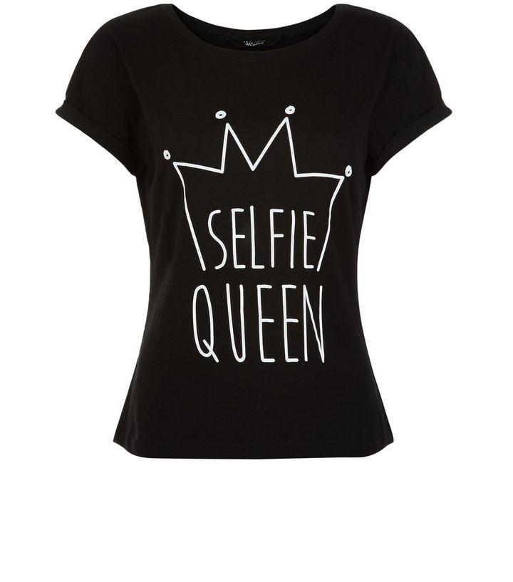 ef673e833 Teens Black Selfie Queen Print T-Shirt | New Look