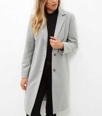 Tall Grey Longline Coat Add to Saved Items Remove from Saved Items