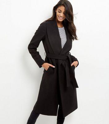 Tall Manteau longueur XL noir ceinturé Ajouter à la Wishlist Supprimer de la Wishlist