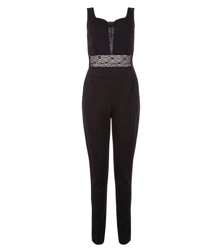 618ba5ff1d5 Loving This Black Lace Panel Jumpsuit