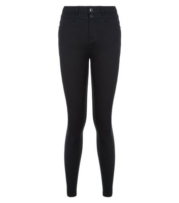 Teens Black High Waisted Skinny Jeans New Look