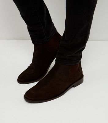 mens brown suede chelsea boots sale