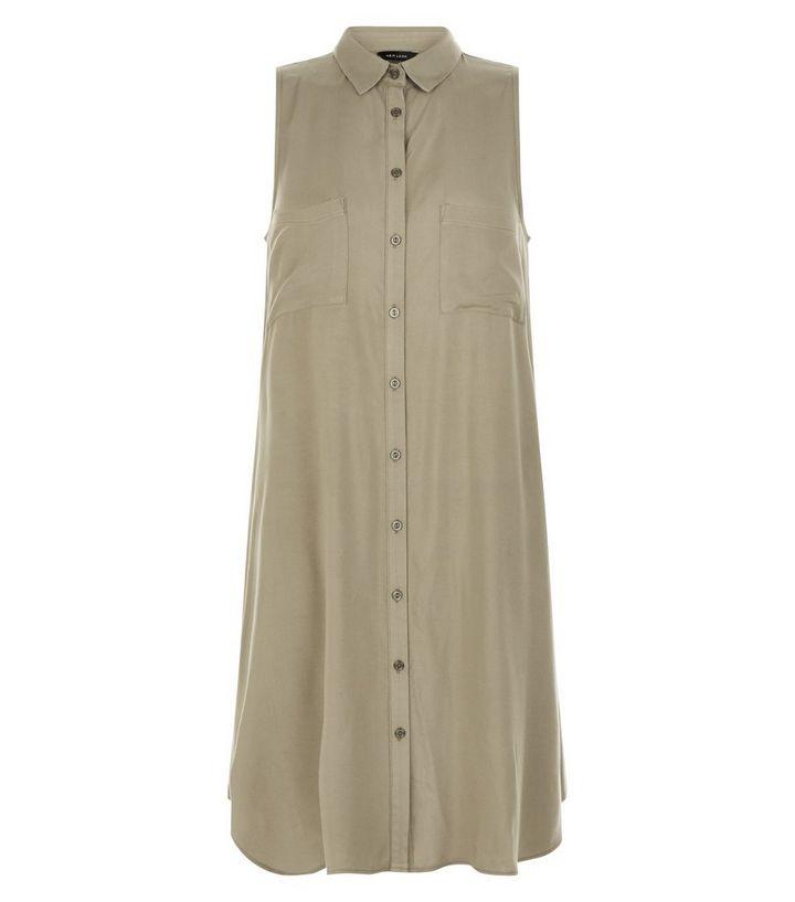 331a1da1396f Khaki Double Pocket Swing Shirt Dress