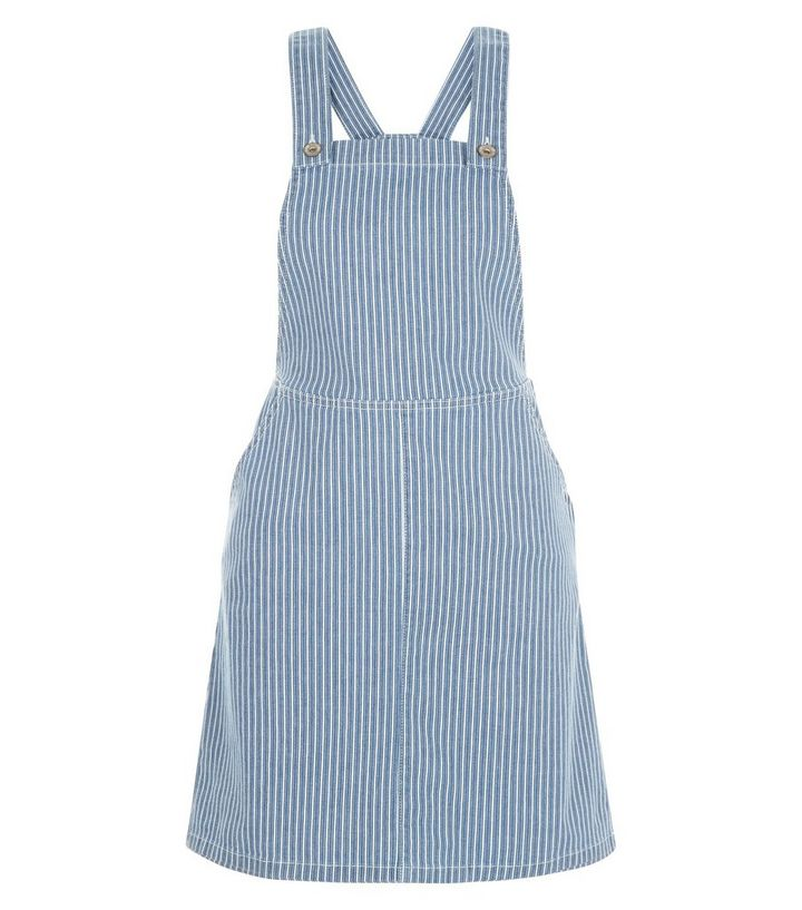 2019 clearance sale top-rated fashion excellent quality Blue Stripe Dungaree Pinafore Dress Add to Saved Items Remove from Saved  Items