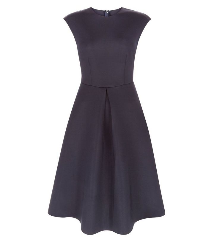 AX Paris Navy Pleated Skater Dress  c00b0ccde