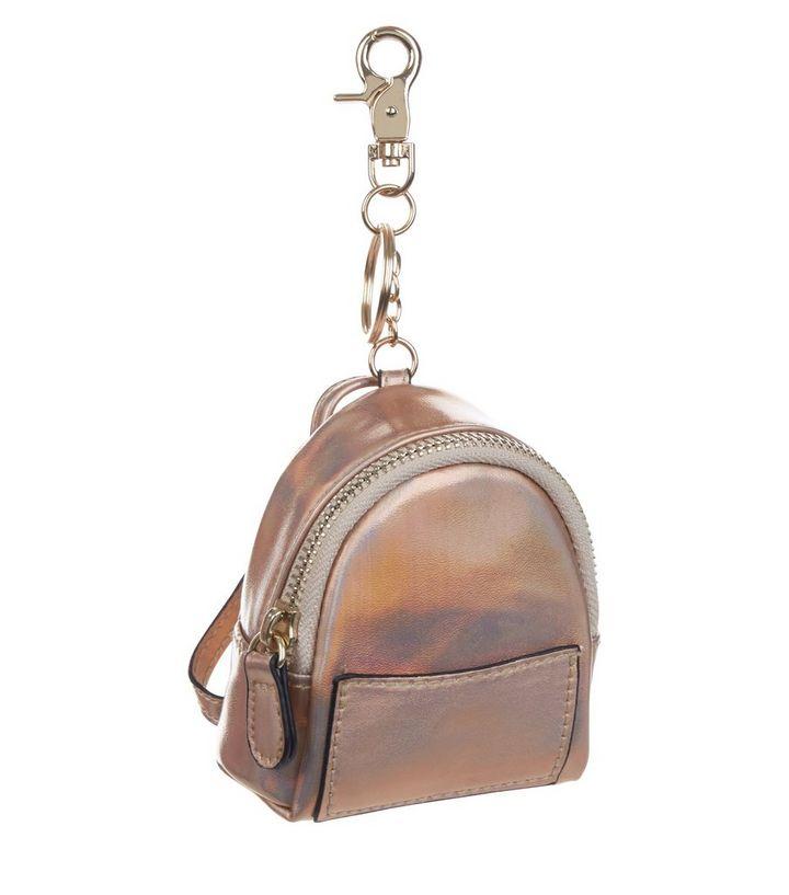 Rose Gold Backpack Keyring  7cf8cf2e8f