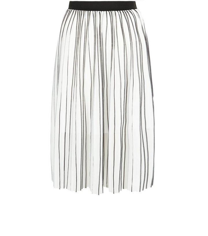 dec43d0422 Monochrome Stripe Pleated Midi Skirt | New Look