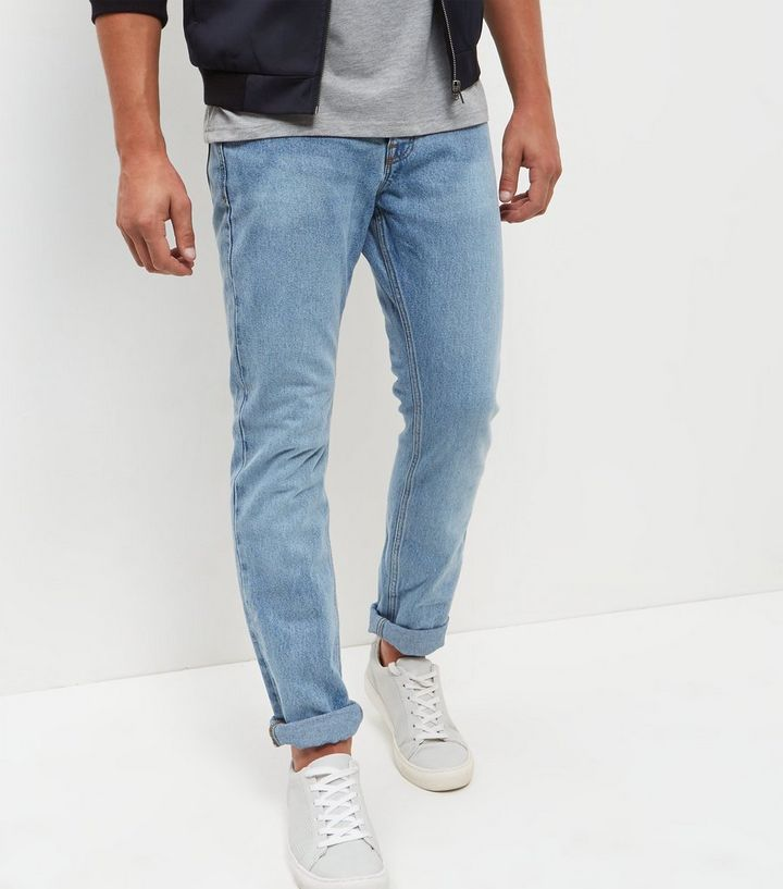 09796e47844 Blue Light Wash Slim Fit Jeans | New Look