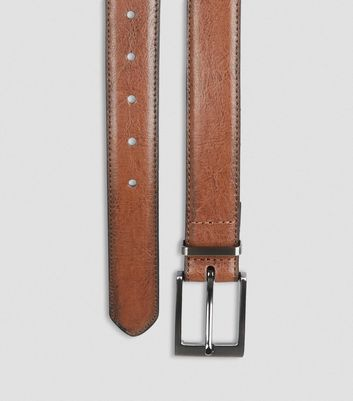 Tan Leather-Look Belt New Look