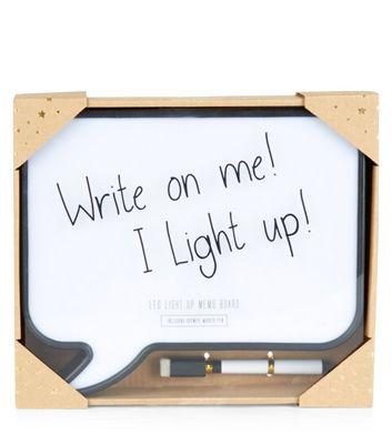 White Speech Bubble LED Memo Box New Look