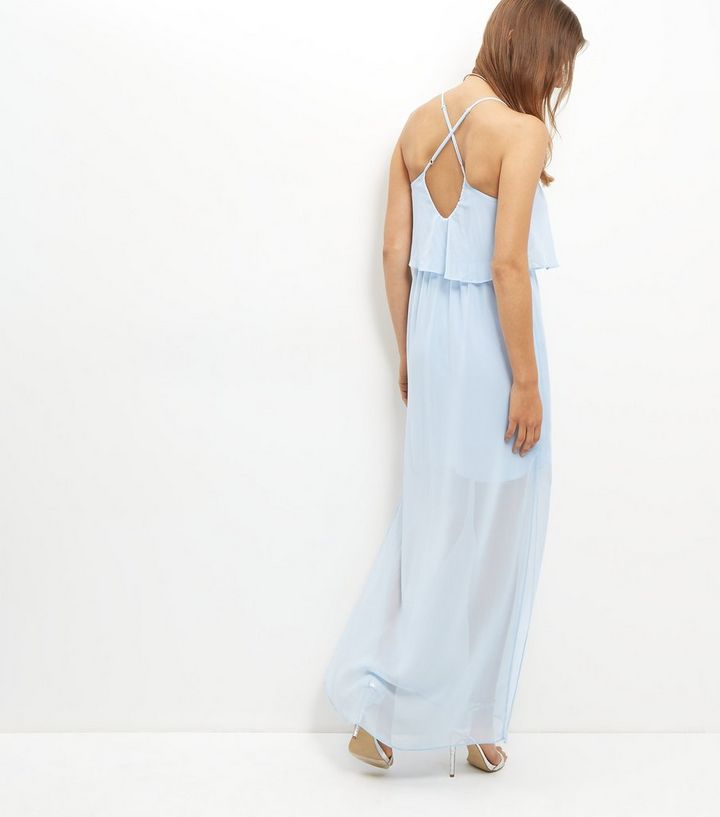 d9d9d727932a8 ... Blue Chiffon Layered Maxi Dress. ×. ×. ×. Shop the look