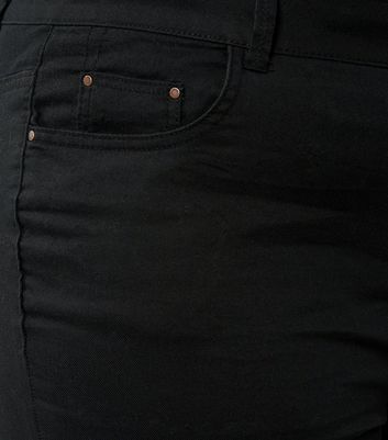 Curves Black Bootcut Trousers New Look