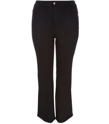 Curves Black Bootcut Jeans New Look