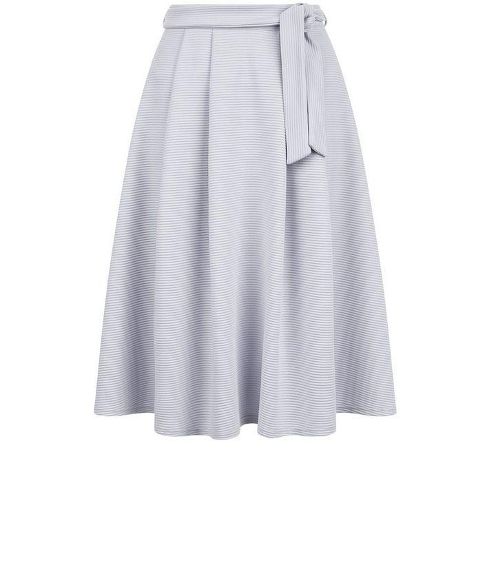 288f22538 Pale Grey Tie Waist Midi Skirt   New Look