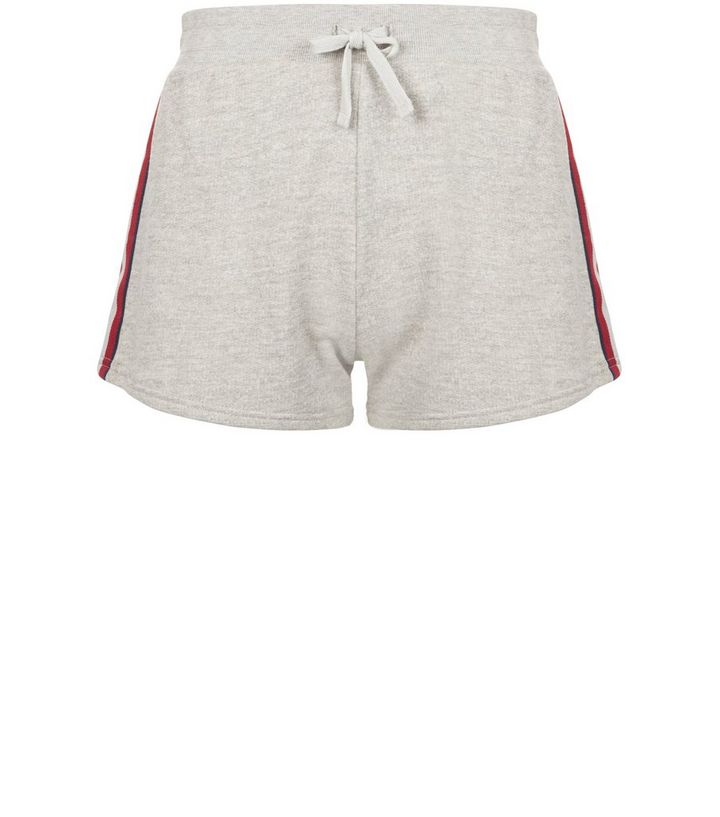 c71466f7e7 Grey Stripe Tape Side Shorts | New Look