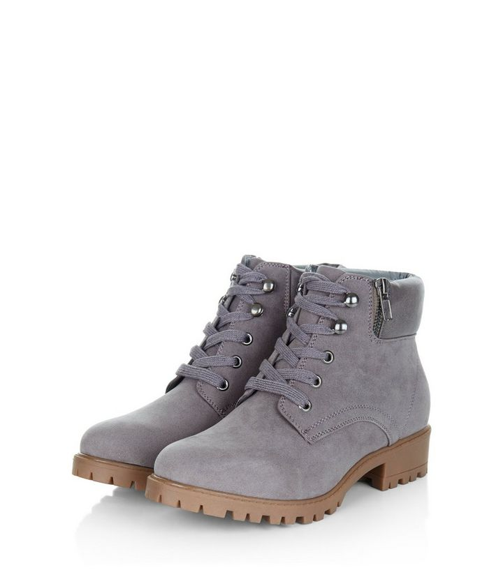 17cbebd8ed540 ... Teens Grey Lace Up Ankle Boots. ×. ×. ×. Shop the look