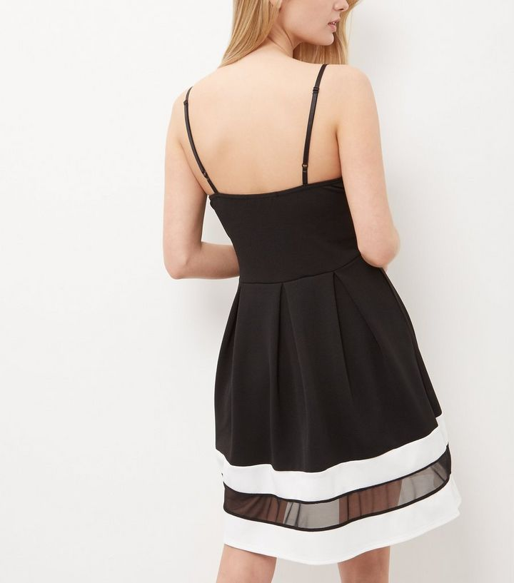 ... Cameo Rose Black Mesh Panel Strappy Skater Dress. ×. ×. ×. Shop the look a1de089b8