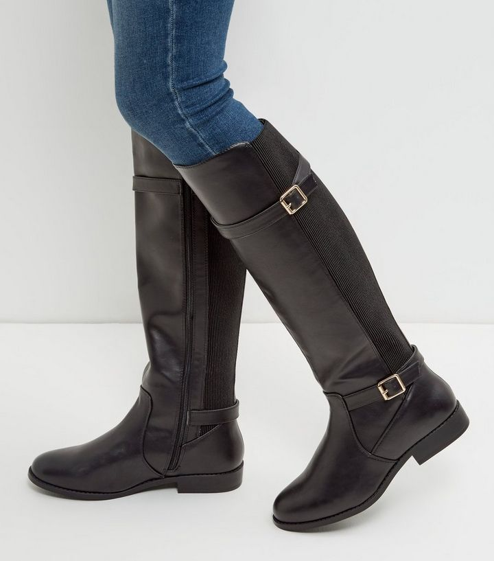 430bfd9a7f8 Tutto Boots Women Knee High Leather Wide Fit Prodotto