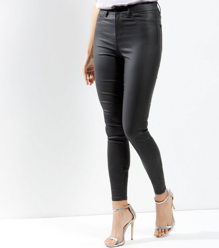 new arrive choose newest new style & luxury Tall Black Coated Super Skinny Jeans Add to Saved Items Remove from Saved  Items