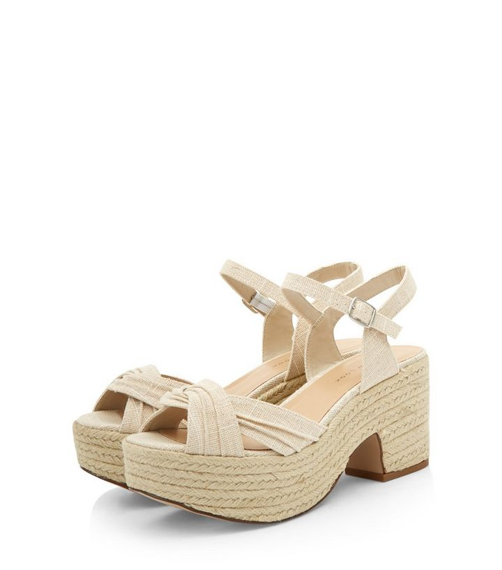7884fa7e6b4 Wide Fit Cream Twist Strap Espadrille Sandals Add to Saved Items Remove  from Saved Items