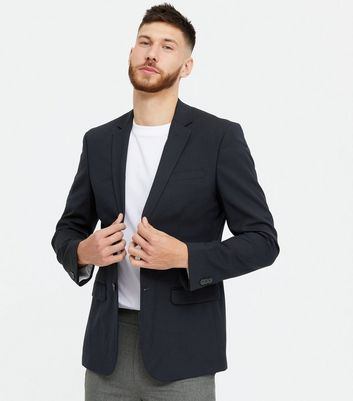 Blue Skinny Fit Suit Jacket
