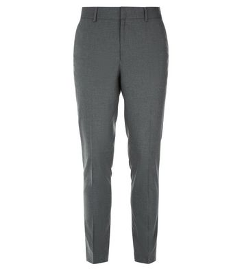Grey Skinny Suit Trousers New Look