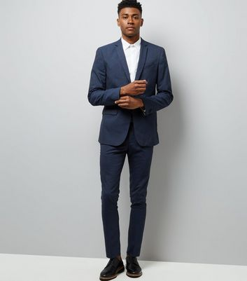 Navy Skinny Suit Trousers New Look