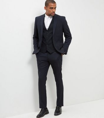 Blue Slim Fit Suit Trousers New Look