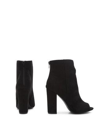 block heel boots open toe