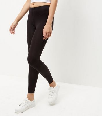 2 Pack Black Cotton Mix Leggings New Look