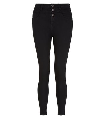 Petite Black High Waisted Skinny Jeans New Look
