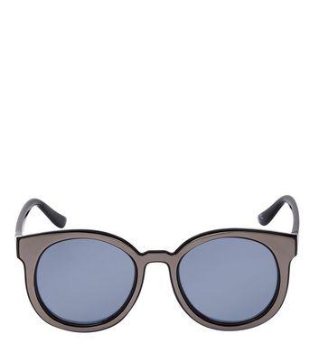 Black Round Sunglasses New Look