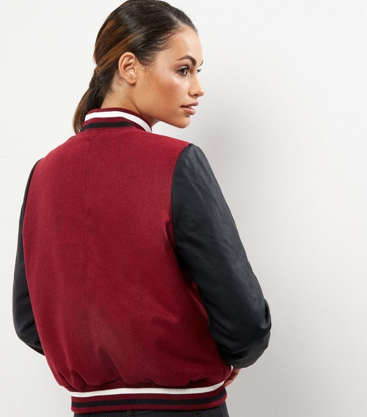 3c524efda Blue Vanilla Dark Red Badge Bomber Jacket Add to Saved Items Remove from  Saved Items