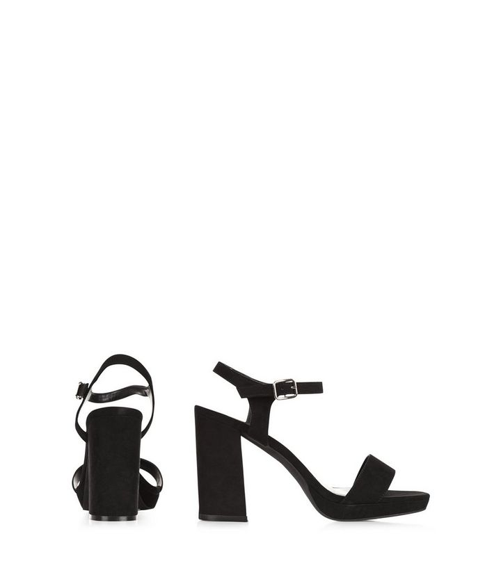 afae5aad1a5 ... Wide Fit Black Suedette Ankle Strap Block Heel Sandals. ×. ×. ×. VIDEO  Shop the look