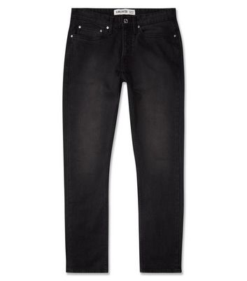 Black Washed Slim Fit Jeans New Look