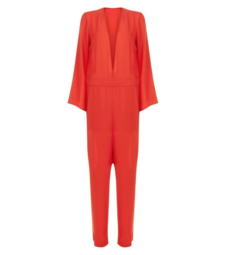 ac6b94be59 ... Innocence Red Plunge Long Sleeve Jumpsuit. ×. ×. ×. Shop the look