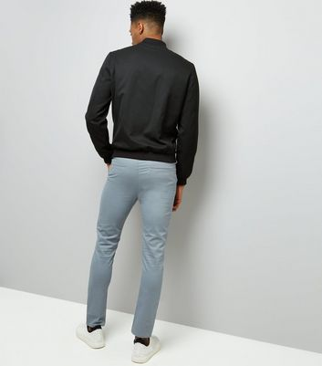 Grey Skinny Trousers New Look