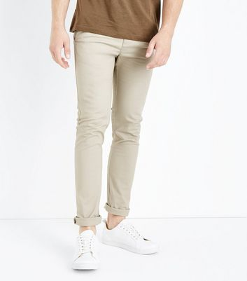 Stone Skinny Chinos New Look