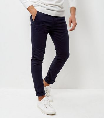Navy Skinny Chinos New Look