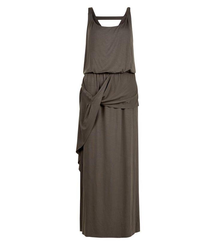 Apricot Khaki Drape Maxi Dress  8cc5d5ef1