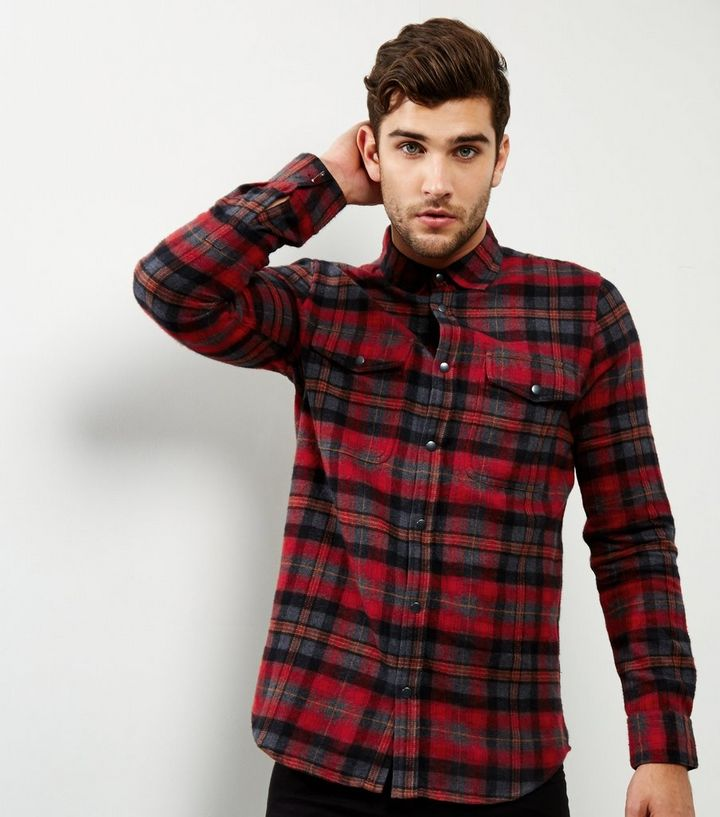 designer fashion biggest discount selected material Red Check Double Pocket Shirt Add to Saved Items Remove from Saved Items