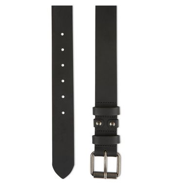 Black Leather Belt New Look