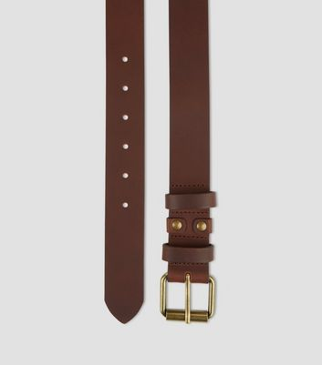 Brown Leather Belt New Look
