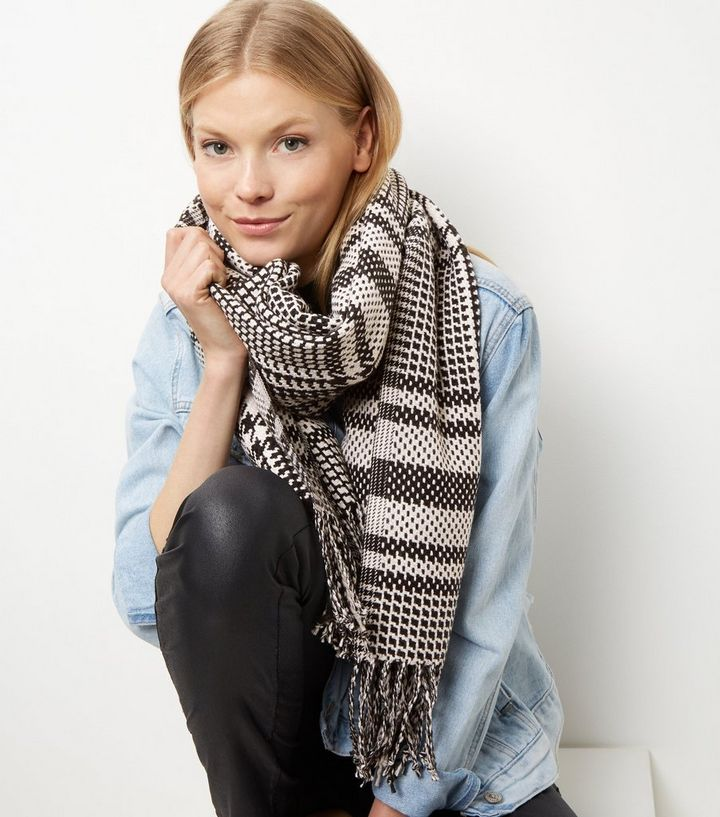 e9a0a1a41d17b ... Grey Check Oversized Scarf. ×. ×. ×. Shop the look
