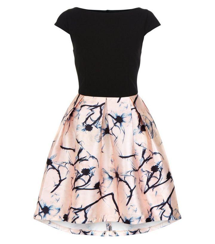 2c12870d14 Cameo Rose Black Floral Print 2 in 1 Skater Dress