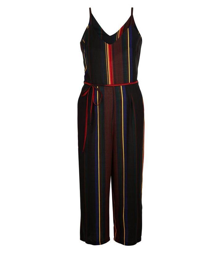 e7b2f94a385 Cameo Rose Black Stripe Culotte Jumpsuit