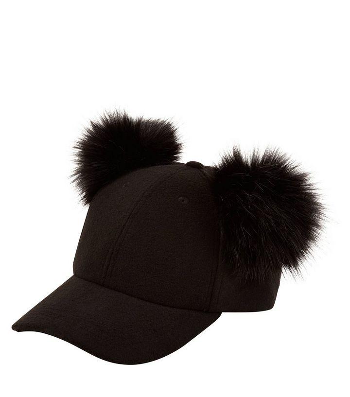 f926d9710d2 ... Black Double Faux Fur Pom Pom Cap. ×. ×. ×. Shop the look
